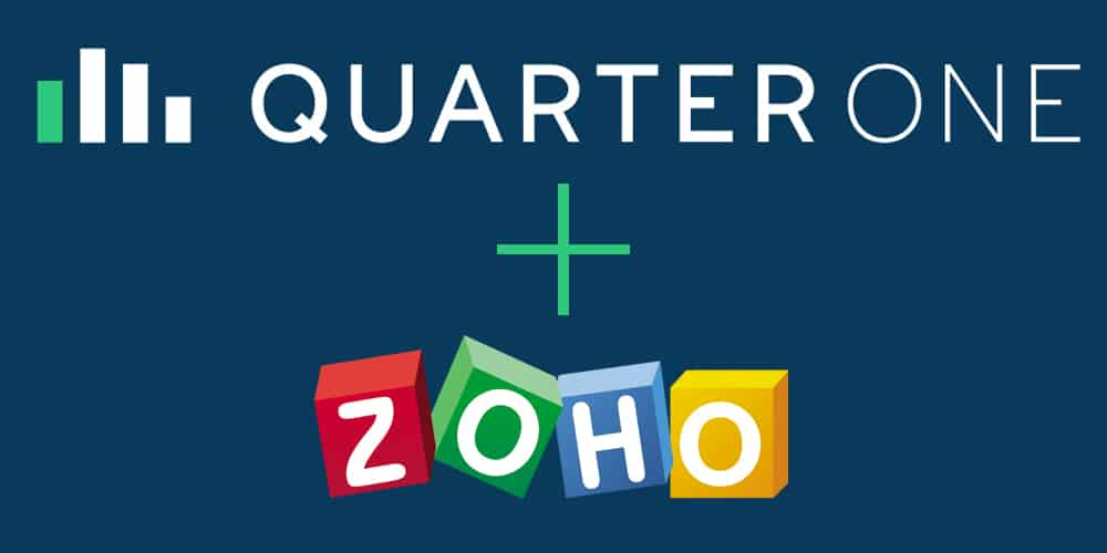 QuarterOne now listed on Zoho Marketplace